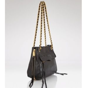 EUC Rebecca Minkoff Crossbody black with gold